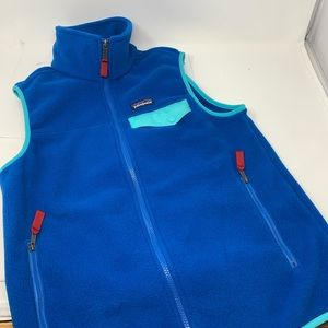 New Patagonia synchilla mens blue vest S CL